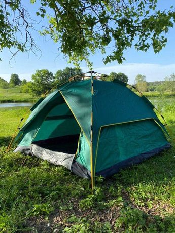 Палатка 4х местная 2х2х1,35см походная 2х слойная автомат кемпинговая
