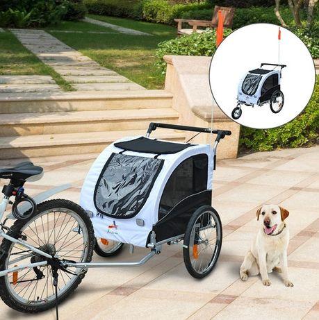 NOWA Przyczepka rowerowa jogger dla psa biała
