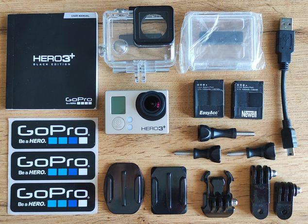 Kamera GoPro HERO 3+ Black 4K, Okazja! Dodatkowe baterie go pro