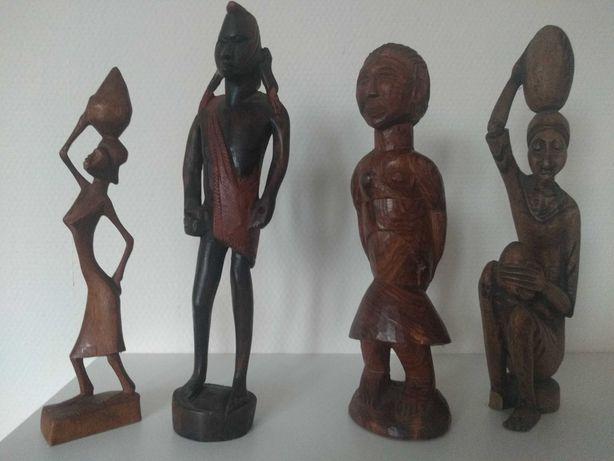 4 afrykańskie figurki + jedna gratis