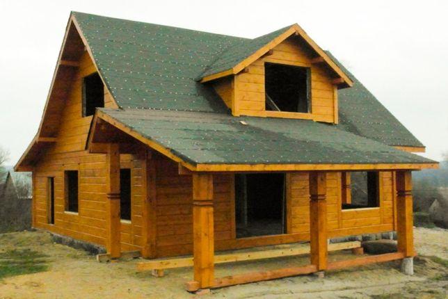 Dom z bali, dom drewniany, dom z pół-bala, altana, domek letniskowy