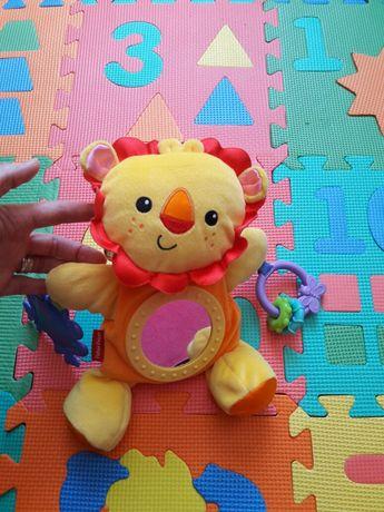 """Развивающая мягкая игрушка """"грызунок"""" Львёнок Fisher price"""