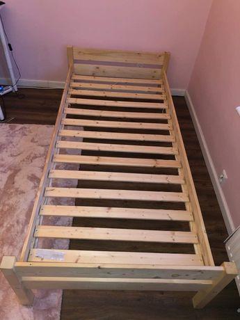 łózko z materacem sprężynowym IKEA 90/200