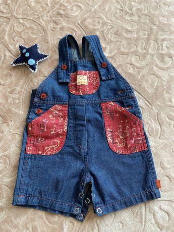 Джинсовый комбинезон на 12 месяцев, джинсовый летний костюм на годик