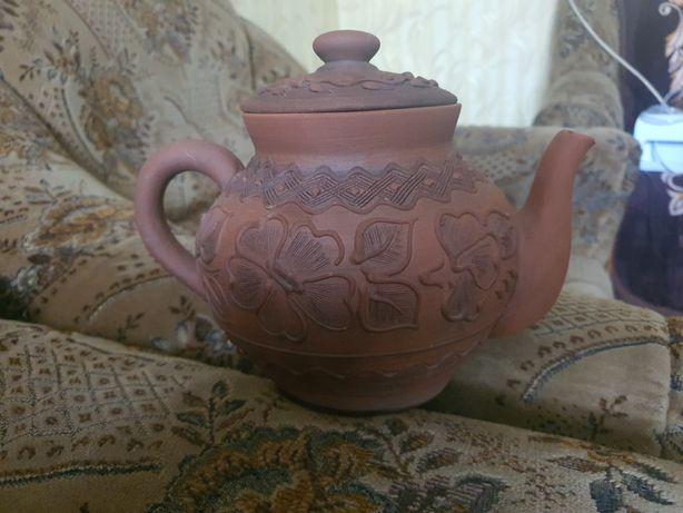 Продам глиняный чайник