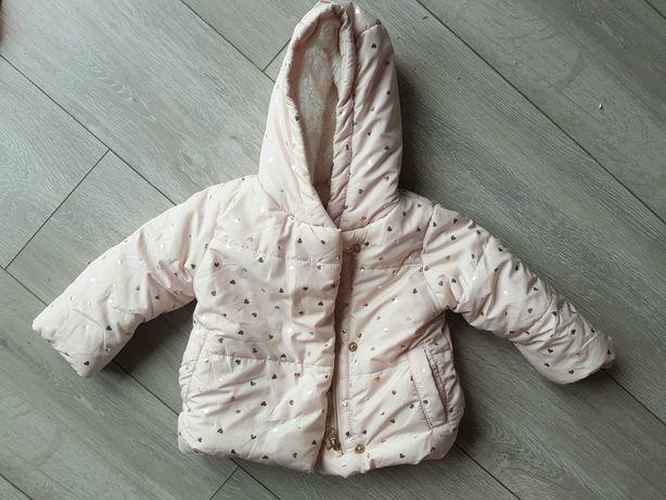 Kurtka dziecięca dziewczęca zimowa różowa r 74 80