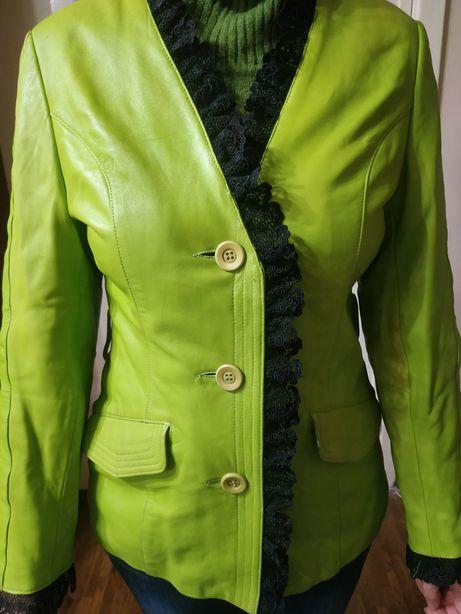 Куртка женская весна-осень натуральная кожа
