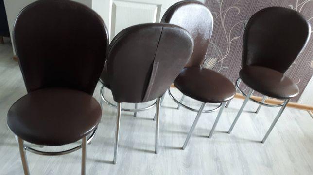 4 krzesla w stanie idealnym z eko skóry