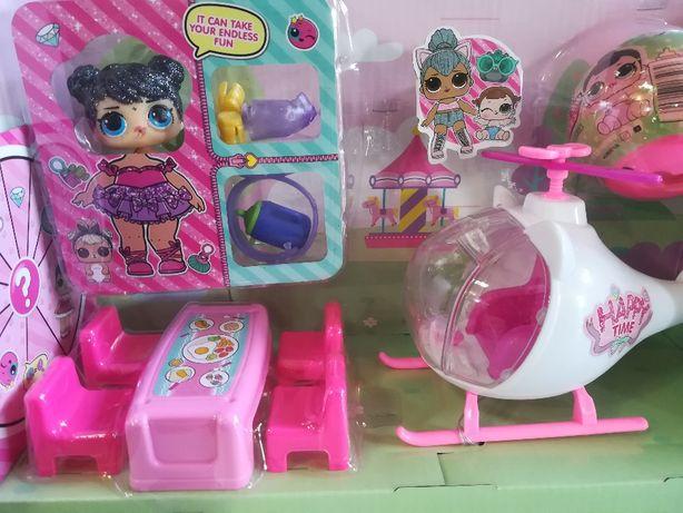 Набор LOL 2 куклы с сюрпризами+Вертолет+Мебель.Новый,в коробке 29-22 с