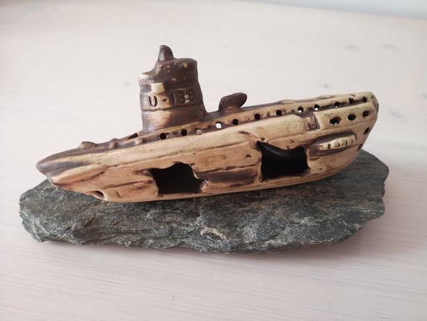 Akcesoria akwariowe Wrak Łodzi podwodnej 25x11x8