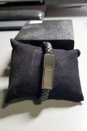 Bransoletka kabel USB-USB typ C do ładowania