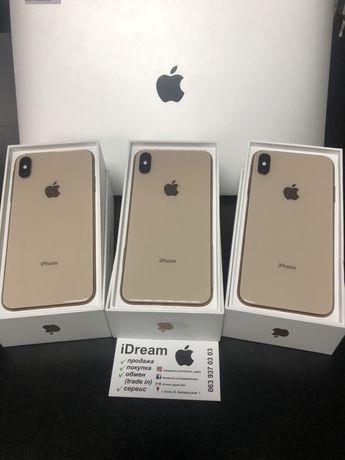 Apple iPhone Xs Max 64 gb Gold ИДЕАЛЫ ! Гарантия от МАГАЗИНА и Apple!