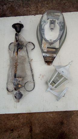 candeeiros de exterior e interior