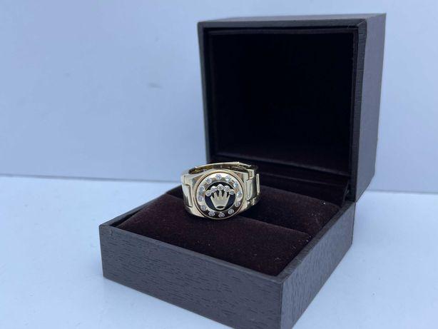 Wyjątkowy złoty pierścionek 11,05g p585 roz23