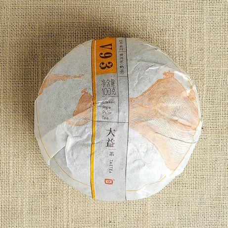 2015 Чай шу пуэр Dayi Мэнхай Да И V93 год 2015, вес 100 грамм, точи