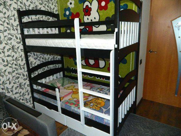 Двухъярусная кровать Карина-Люкс Классик из бука С ЯЩ. И БОРТ. АКЦИЯ!!