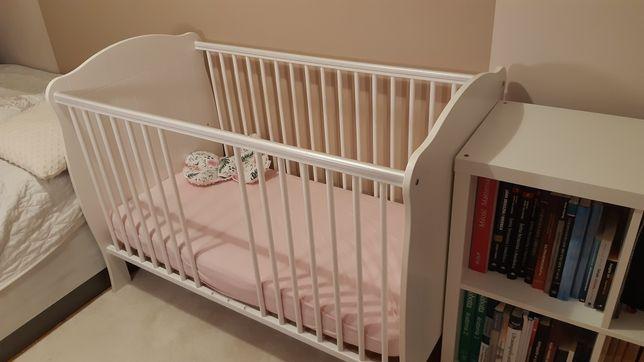 Łóżeczko dziecięce 120x60 Bellamy plus materac Fiki Miki niemowlęce
