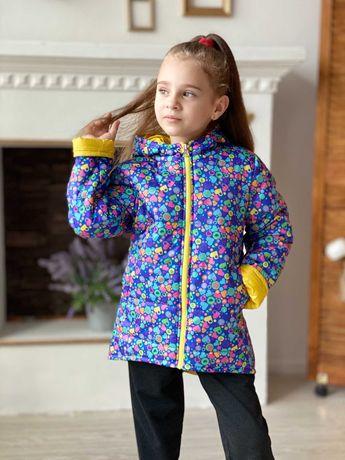 Куртка детская на девочку , двухсторонняя, осенняя