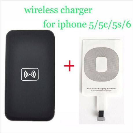 Carregador sem fios + adaptador Receptor para iPhone 5 5c 5S 6 6s