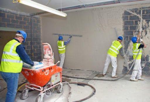 Tynki maszynowe tradycyjne cementowo wapienne z gładzią wapienną