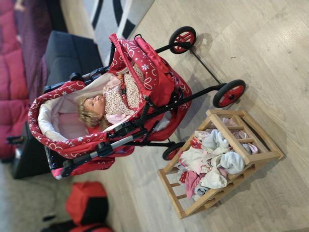 Продам коляску adbor,в подарок кукла Adele с одеждой и кроватка