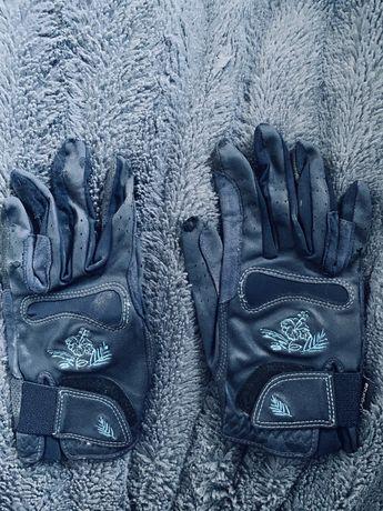 Rękawiczki granatowe z fouganzy rozmiar s