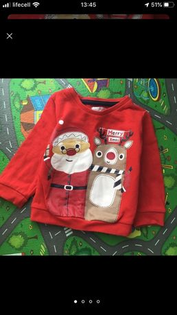 Свитшот новогодний, новорічний светр, кофта