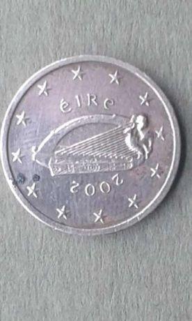 moeda de 2 cêntimos muito rara excesso de metal