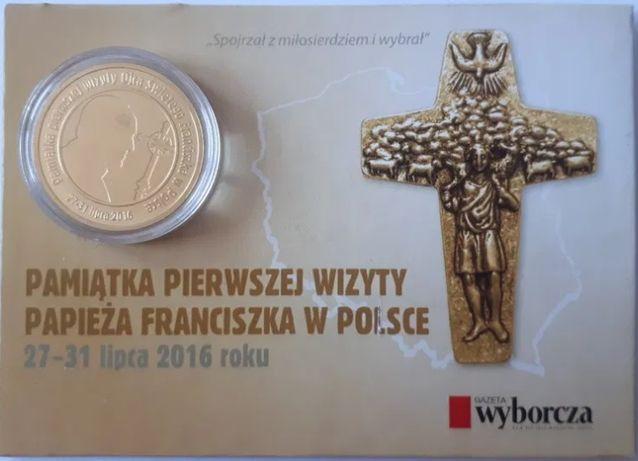 Moneta Pamiątkowa pierwszej wizyty papieża