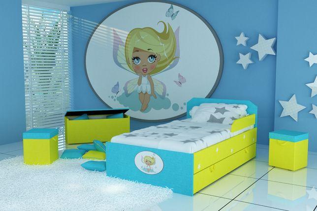 Łóżko z wróżką dla dziecka,dziecięce z materacem 10 cm,szufladą.Tanio