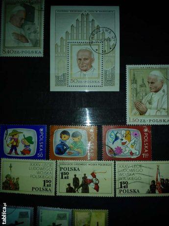 kolekcja polskich znaczków pocztowych