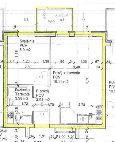 Mieszkanie do wynajęcia 35m2,  2 pokoje Osiedle Sady ul. Witosa