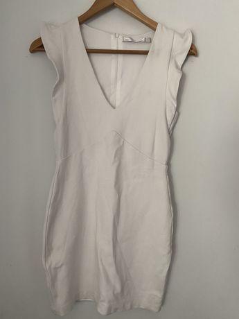 Vestido branco justo Zara