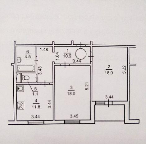 Без комиссии, от Владельца двухкомнатная квартира Троещина с кладовой