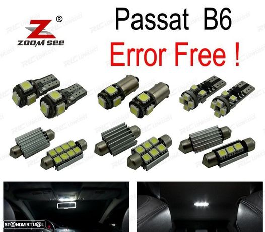 KIT COMPLETO DE 16 LÂMPADAS LED INTERIOR PARA VOLKSWAGEN VW PASSAT B6 SEDAN WAGON 2006 -2011