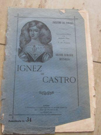 Ignez de Castro; romance historico. Illus. de Augusto Pina e V. de Fo