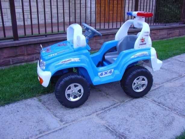 Auto policyjne na akumulator z pilotem