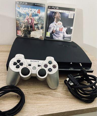 PS3 Slim com 2 jogos extras