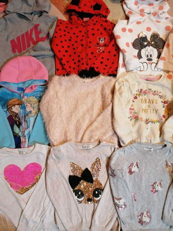 Bluzy i sweterki długi rękaw roz 110/116 FIRMOWE
