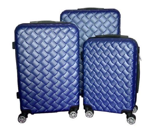 Zestaw walizek set walizki podróżne mulano niebieskie M L XL 1408