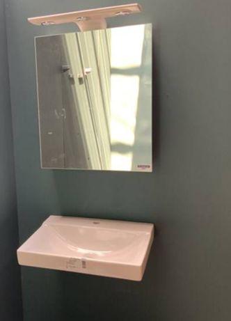 Szafka z lustrem  i umywalka nowe komplet