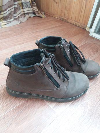 Ботинки зимние на подростка нубук размер 39
