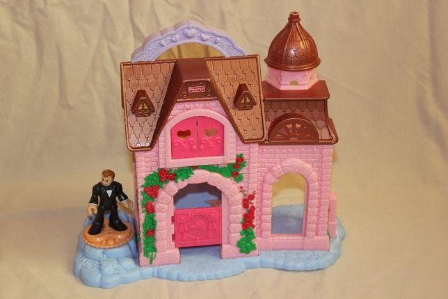 Розовый дом, замок Fisher Price imaginext