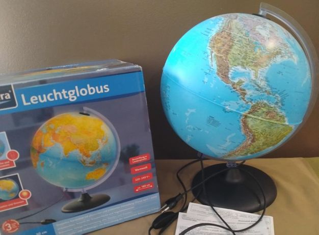Глобус Melinera Ø30 см физико-политический с подсветкой. Германия