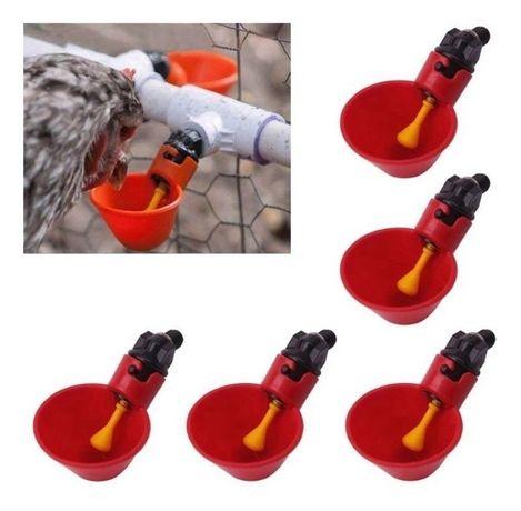 Bebedouros automáticos para galinhas e outras aves p/ tubo 20 ou 25 mm
