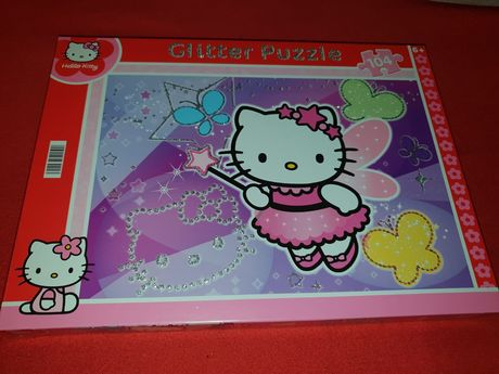puzzle hello kitty brokatowe