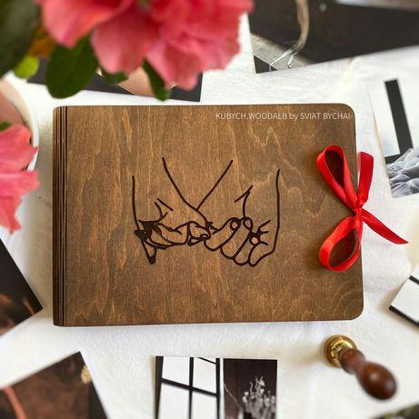 ТОП! Деревянный фотоальбом на подарок девушке, парню, жене, мужу. ЖМИ!