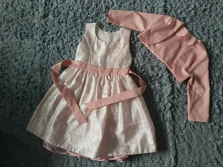 Elegancka sukienka z bolerkiem 92,98r