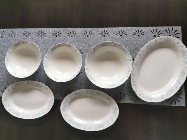 Komplet 3 misek i 3 półmiskow z porcelany