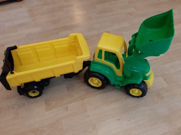 Трактор с ковшем и полуприцепом. Длина 90 см